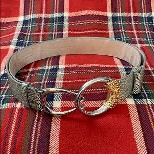 Chicos leather snakeskin belt... Gorgeous.